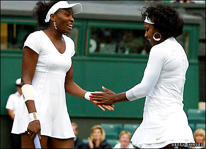 Venus (right) and Serena Williams 
