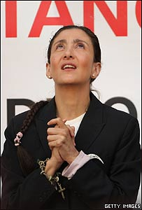 Ingrid Betancourt en un acto en París, Getty Images