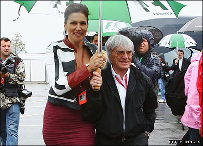 Bernie Ecclestone and wife Slavica