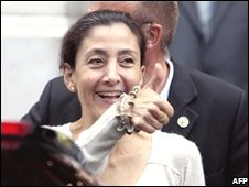 Ingrid Betancourt in Paris