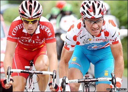 Thomas Voeckler (r) and Sylvain Chavanel