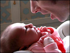 Father and baby (file photo)