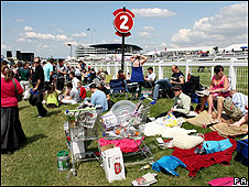The crowds at this year's Epsom Derby