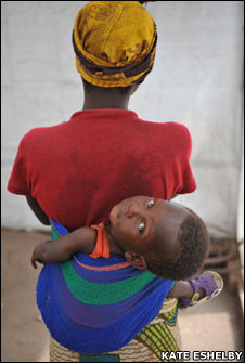 Woman and child in DR Congo