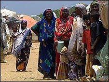 Camp for displaced people in Somalia
