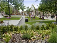 An artist's impression of how Sunniside Gardens will look
