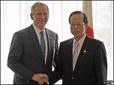 President Bush with Japan's Prime Minister Yasuo Fukuda (AP)