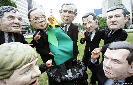 Oxfam protest at the G8 Summit