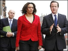 Iain Duncan Smith, Davena Rankin and David Cameron