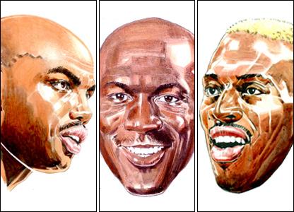 NBA greats by Paul Trevillion
