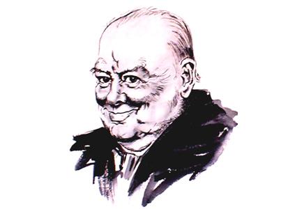 Winston Churchill by Paul Trevillion