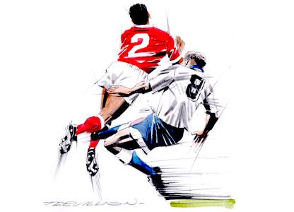 Gascoigne tackle by Paul Trevillion