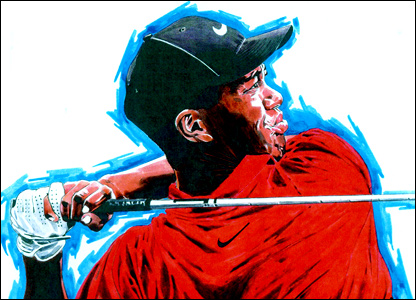 Tiger Woods by Paul Trevillion