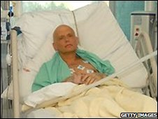 Alexander Litvinenko in a London hospital - 20 November 2006