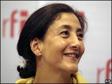 Ingrid Betancourt in Paris on 7 July 2008
