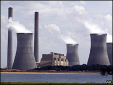 File image of a coal-fired plant in the US state of Georgia
