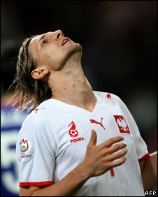Polish footballer Euzebiusz Smolarek at Euro 2008