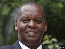 Kenya's Finance Minister Amos Kimunya
