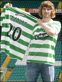 New Celtic signing Pat McCourt