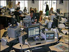 The news room at Radio 1's Newsbeat