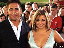 Charlotte Church and Gavin Henson.