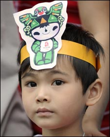 A young Olympics fan