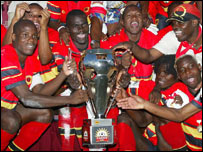 Angola with the Cosafa Cup