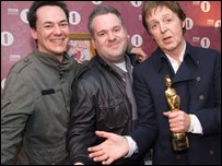 Comedy Dave, Chris Moyles and Sir Paul McCartney