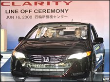 Hydrogen powered car made by Honda
