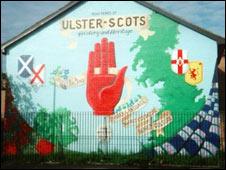 Mural celebrating Ulster-Scots heritage