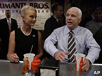John McCain and his wife Cindy