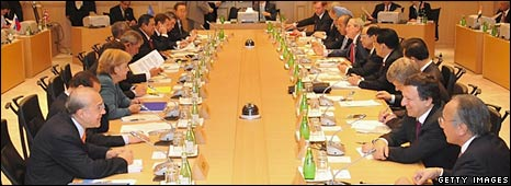 G8 meeting in Japan, 9 July.