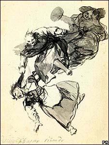 Bajar rinendo (Down they come) by Fernando de Goya