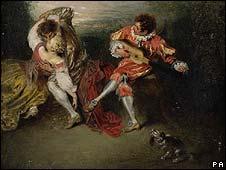 La Surprise by Jean-Antoine Watteau