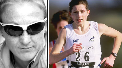Paula Radcliffe and Hayley Haining