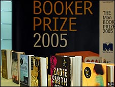 Booker Prize nominees on display in 2005
