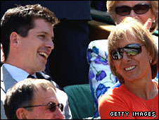 Tim Henman and Martina Navratilova