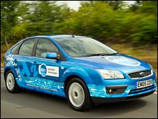 The hybrid petrol/hydrogen car