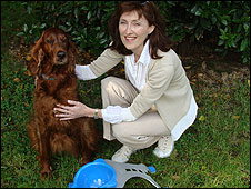 Jane Grant with Emmy the dog
