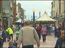 Rhyl town centre