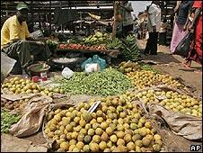 Vegetable market in Nairobi