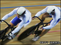 Cyclists Craig MacLean and Chris Hoy