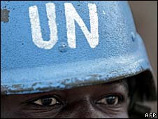 UN/AU peacekeeper in Darfur