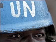 UN/AU peacekeeper in Darfur