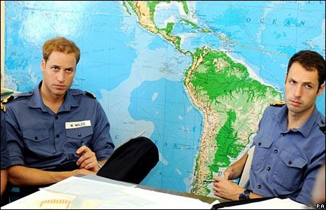 William in a meeting on Montserrat