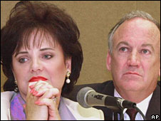 Patsy and John Ramsey, pictured in May 2000