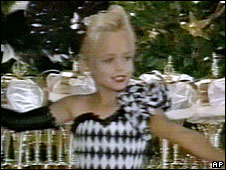 JonBenet Ramsey, pictured in undated family video