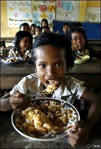 Niños en Cambodia