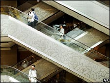 Shoppers in Singapore