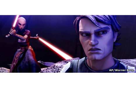 Anakin Skywalker confronts Asajj Ventress
